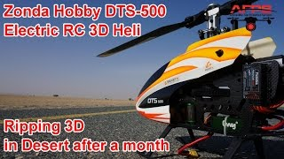 Zonda Hobby DTS 500 Electric 3D RC Helicopter 3D In Desert