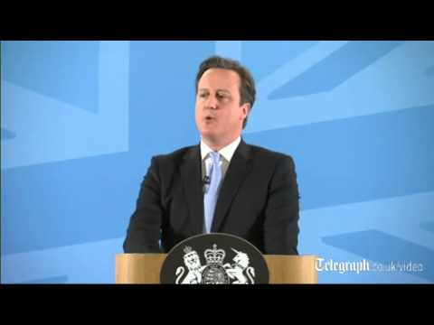 David Cameron announces crackdown on immigrants