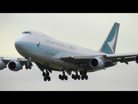 NEW LIVERY - Cathay Pacific Cargo 747-467(F) Landing at London Heathrow - [B-LIB]