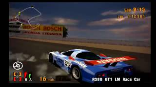 Gran Turismo 3 EPIC RACE! Laguna Seca Hilariousness! The R390 Spins! Check him out! haha!