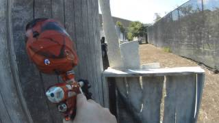 Woops, man down! - Paintball DM12 scenario footage with mask and barrel cam