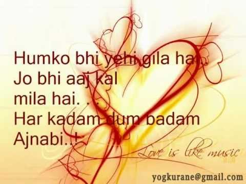 Anjaana Anjaani - Title (Sad)  Song With Lyrics . . .