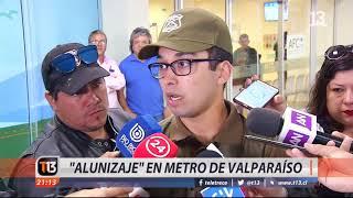 """Impacto por """"alunizaje"""" en estación de Metro de Valparaíso"""