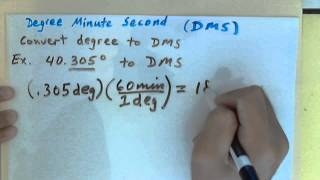 How to Convert Decimal Degree to Degree Minute Second (DMS)