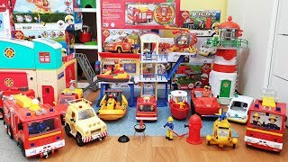 Fireman Sam Fire Truck Toys Unboxing Kids Playing RC Cars Firefighter Sam Toy Fire Station Engine