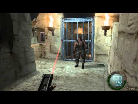 resident evil 4 lion vs krauser.wmv