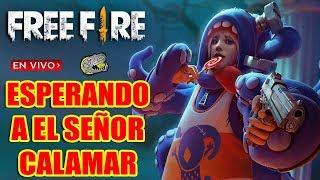 🔴 Esperando a el Señor Calamar - Free Fire - Nuevo Evento de Halloween Comienza!!!