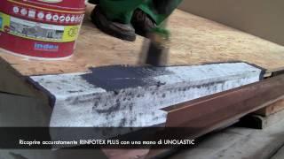 Come impermeabilizzare un tetto e il raccordo con la grondaia con UNOLASTIC