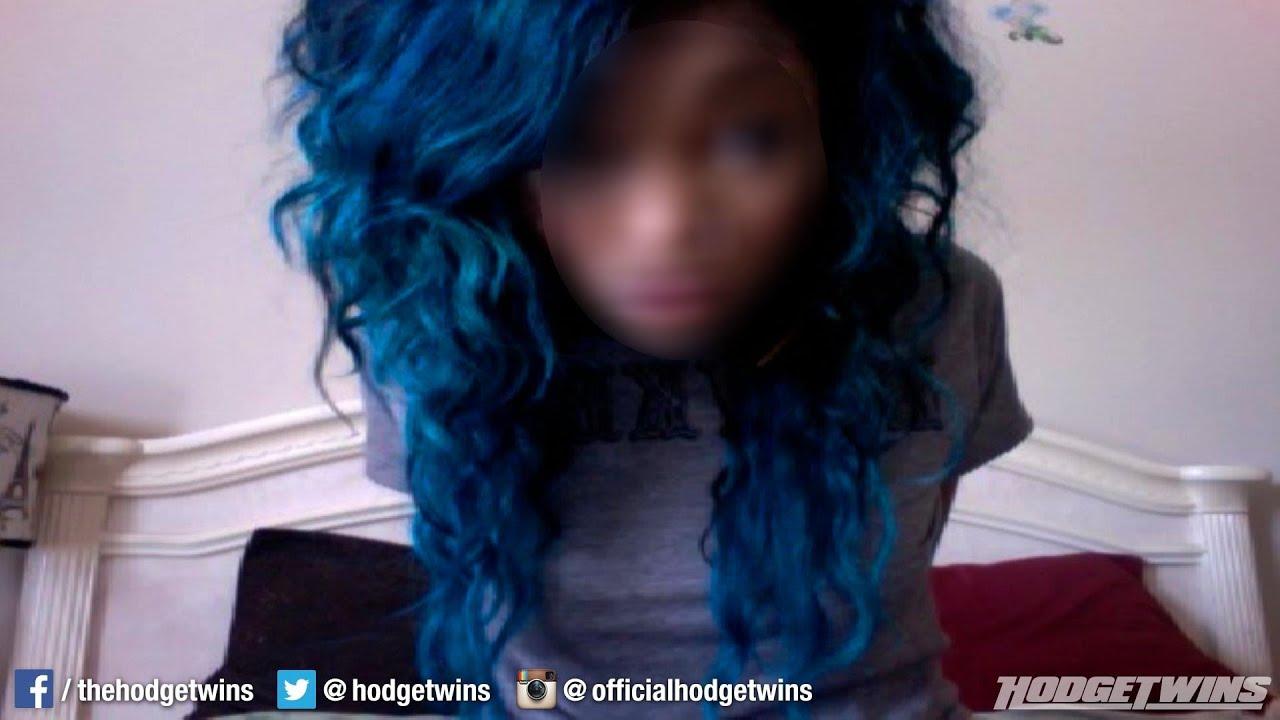 Blue Hair On Black Girl = Ratchet?? @hodgetwins - YouTube