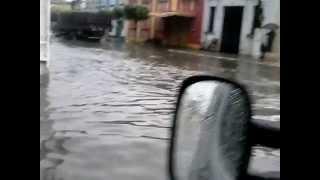 Inundação na Rua da Baixinha, Centro, em Goiana PE