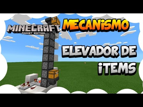 Crear un Elevador de Items | Minecraft Pocket Edition / Windows 10 | 0.14.0+