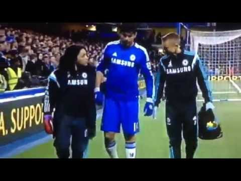 Diego Costa injured could be out for the rest of season Chelsea vs Stoke City 04/04/15