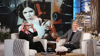 Carrie Fisher Talks Harrison Ford and Coke