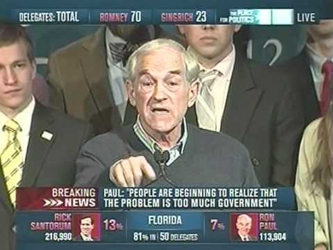 Ron Paul Energetic Speech In Nevada After Florida voting