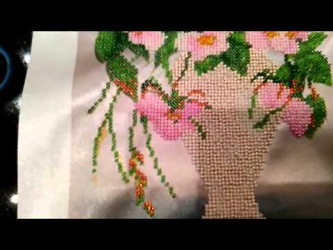 Техника вышивки бисером (интересный обучающий ролик)