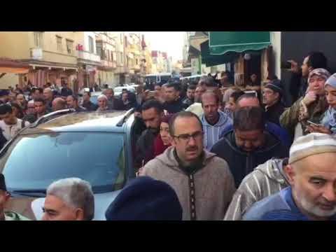 طنجة : مراسيم جنازة المستشار الجماعي احمد الفليوي