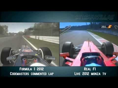 F1 2012 Codemasters Vs Real life @ Monza [HD]