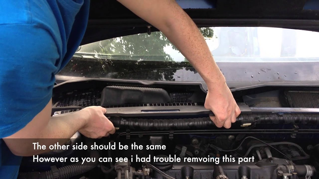 Wiper Mechanism Removal Peugeot 406 Youtube