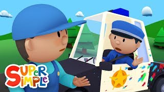 Police Officer Oona chases a paint thief and gets a BIG SURPRISE! | Police Car Wash
