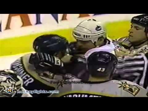 Nashville Predators and Vancouver Canucks Brawl (1998) (720p HD)