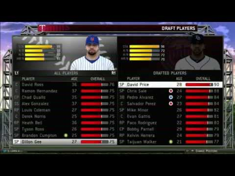 MLB 14 The Show: Twins Fantasy Draft Live with JunkGamingVideos