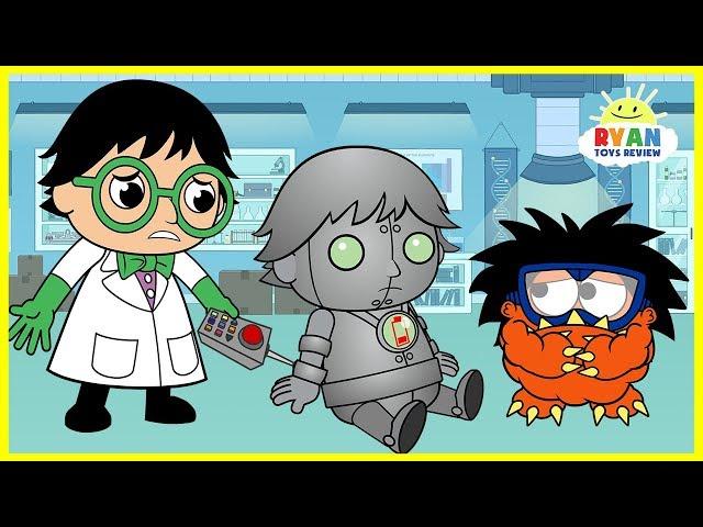 Ryan Builds a Robot Cartoon Animation for Kids!!!