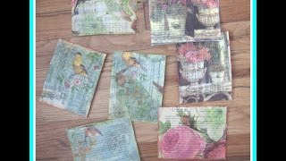 How To Make Handmade Postcards/ DIY Mixed Media Postcard Ideas