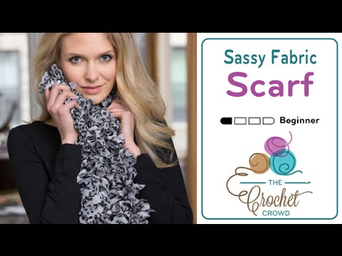 How to Crochet with Sassy Fabric by Red Heart Boutique