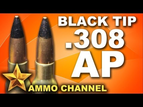 AMMOTEST: Black Tip .308 Armor Piercing - AP Ammo