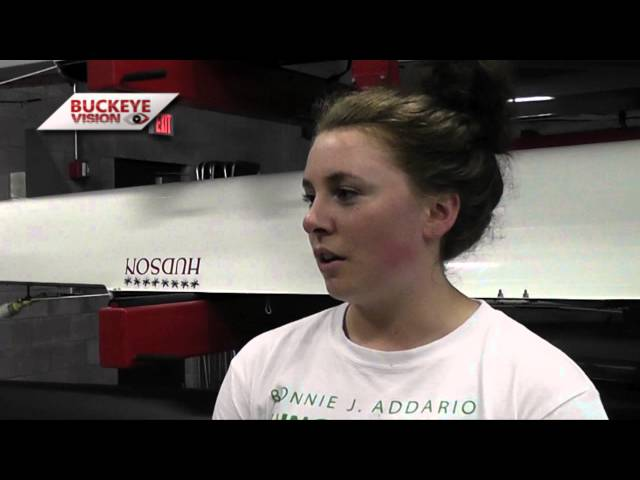 ROW: Chloe Meyer, Catherine Shields and Claire-Louise Bode Preview Big Ten Championships