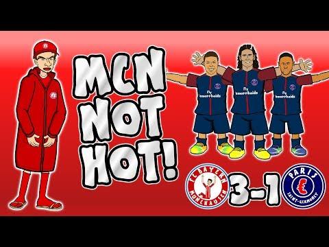 🚫MCN NOT HOT🚫 Bayern vs PSG 3-1 (Parody Goals Highlights Champions League 2017)