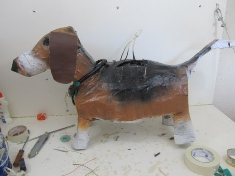 How to make an animal pinata out of paper mache youtube for Homemade papier mache