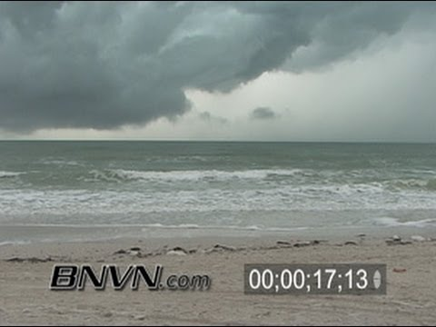 2/3/2006 Saint Petersburg, FL Beach Thunder Storm News B-Roll