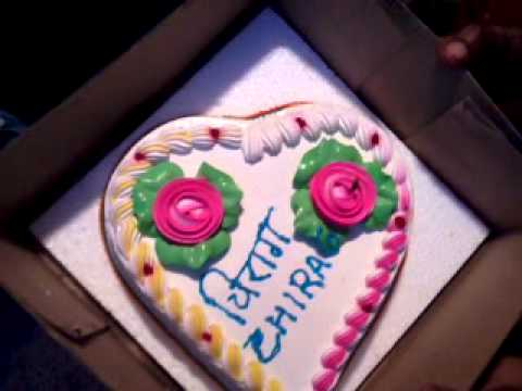 Birthday Cake Images With Name Chirag : Chirag s b day cake.... - YouTube