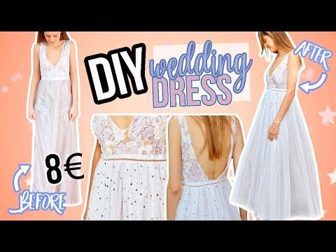 DIY Vestido de boda  - Transformando un vestido de Aliexpress