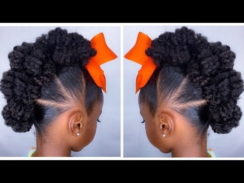 Textured Bun-Hawk Tutorial | Kids Natural Hairstyle | IAMAWOG