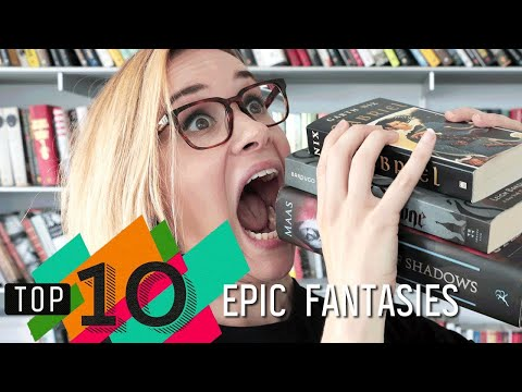 Top 10 Epic Fantasies   Throne of Glass. Shadow and Bone & More!   Epic Reads