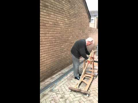 How an 86 years young scientist moves heavy construction blocks.