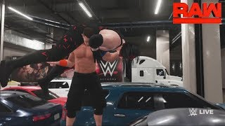 WWE-2K18-John Cena vs.Kane- backstage brawl  Match- -RAW 2018