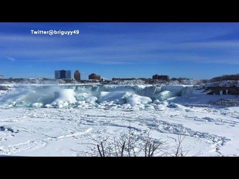 Frozen Niagara Falls: Deep Freeze Creates Winter Beauty