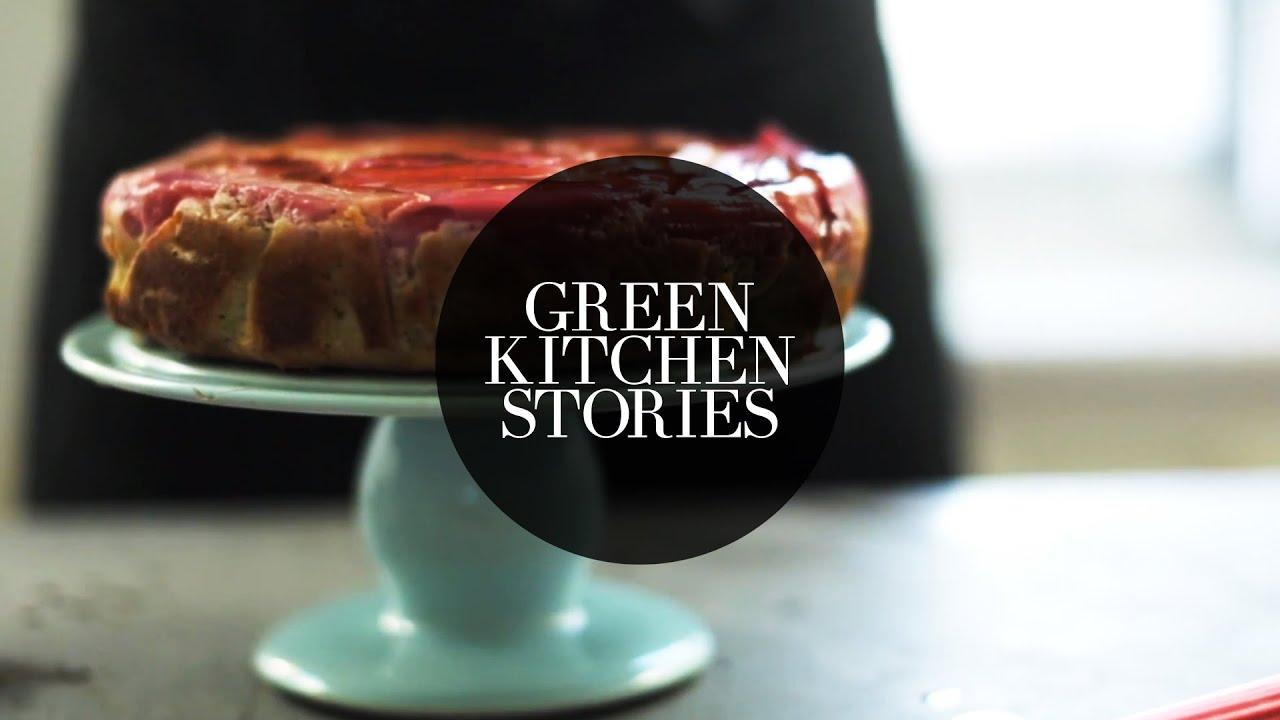 rhubarb upside down yogurt cake green kitchen stories youtube. Black Bedroom Furniture Sets. Home Design Ideas