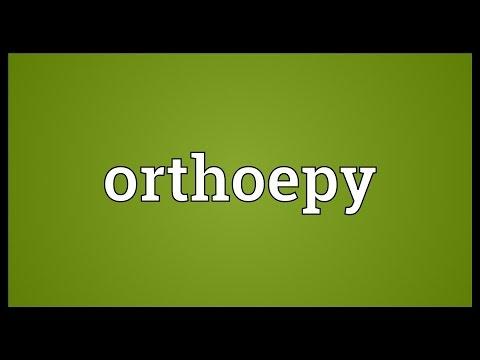 Header of orthoepy