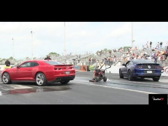 2013 Camaro ZL1 vs 2013 Shelby GT500 - Heads up - 1/4 mile Drag Race Video - StreetCarDrags