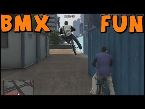 Grand Theft Auto 5 | BMX Bike Freestyle/Freeroam and Gang Attack Fail! With EKDrifter458