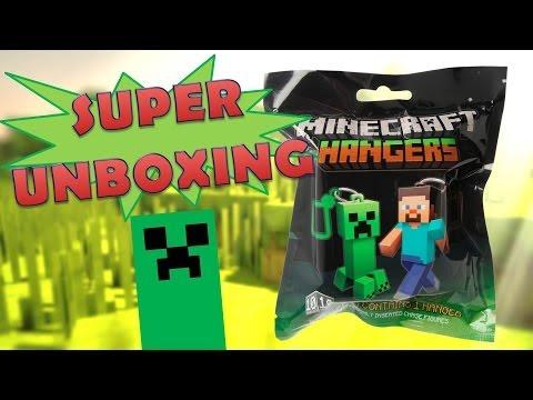 Minecraft Hangers: llaveros, Unboxing Español.