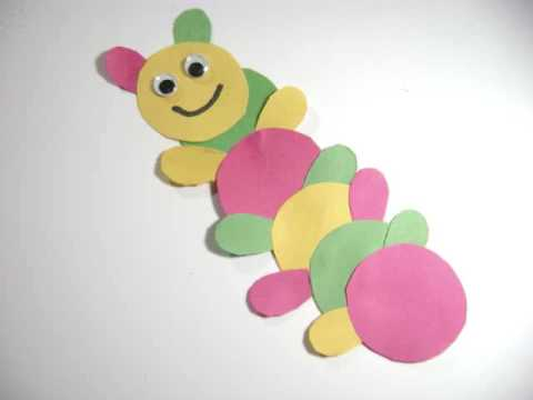 Paper Kids Crafts: How to make a cute Catepillar