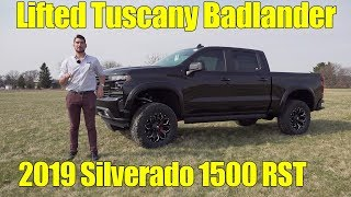 LIFTED 2019 Chevy Silverado 1500 RST! Badlander by Tuscany!
