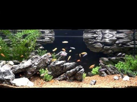 Скалы в аквариуме своими руками