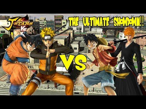 J-Stars Victory VS - Goku  &  Naruto vs Ichigo  &  Luffy (Super Saiyan Ninja Duo!!)