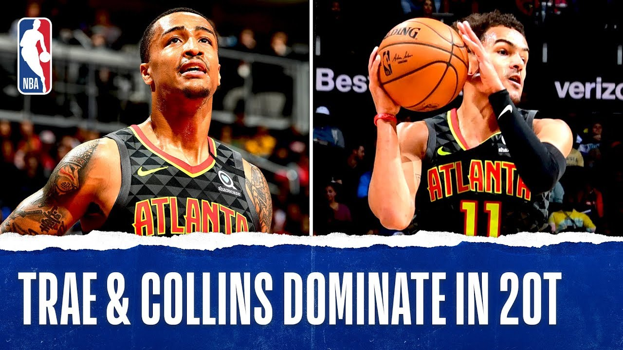 Trae & Collins BOTH Record Double-Double's in 2OT Thriller!